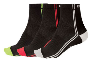 ENDURA COOLMAX STRIPE II SOCK 3 τεμ.